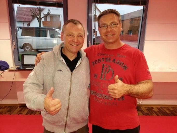 Marc Schaffrath mit Paul Gruber